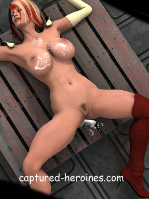 tied up and beaten up superheroine gets bound and humiliated during a rough gangbang sex comic
